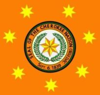 Cherokee Nation seal and stars