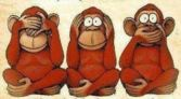 Monkeys see, hear, speak no evil, Bangra.com